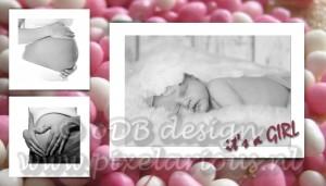 geboortekaartje meisje (foto's www.fotolavie.nl)